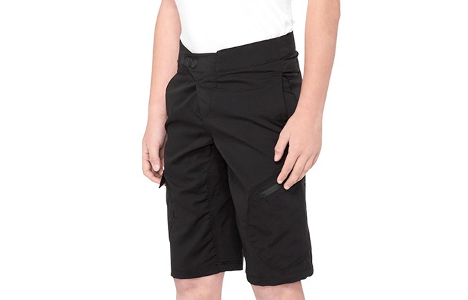 SHORT 100% KID RIDECAMP BLACK