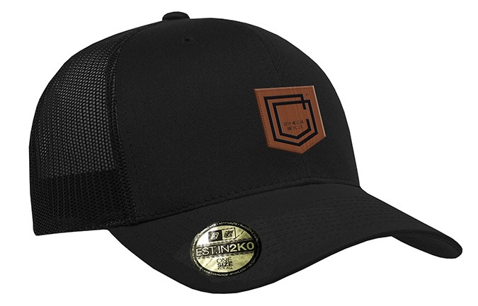 CASQUETTE COMMENCAL TRUCKER VISIERE INCRUVEE SHIELD CUIR BLACK 2019