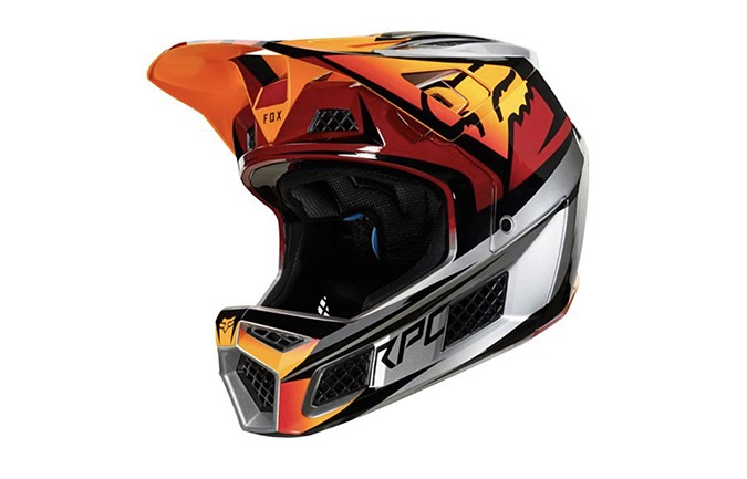 CASQUE FOX RAMPAGE PRO CARBON ICE RED  2019