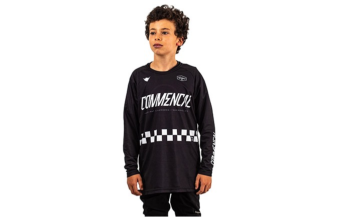 MAILLOT KID COMMENCAL/FORBIKE MANCHES LONGUES BLACK 2019