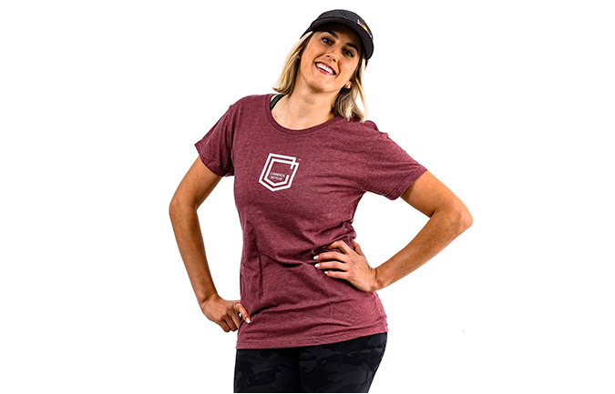 T-SHIRT COMMENCAL GIRL SHIELD BURGUNDY