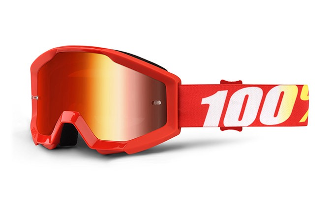 MASQUE 100% STRATA JUNIOR FURNACE - MIRROR RED LENS