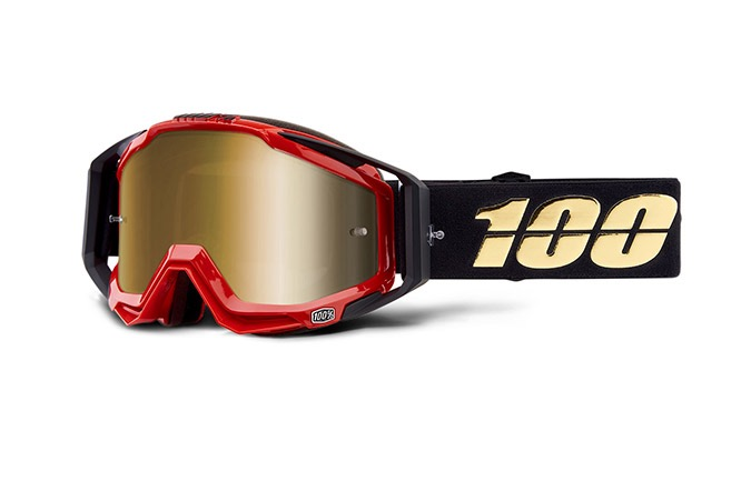 MASQUE 100% RACECRAFT HOT ROD - MIRROR TRUE GOLD LENS