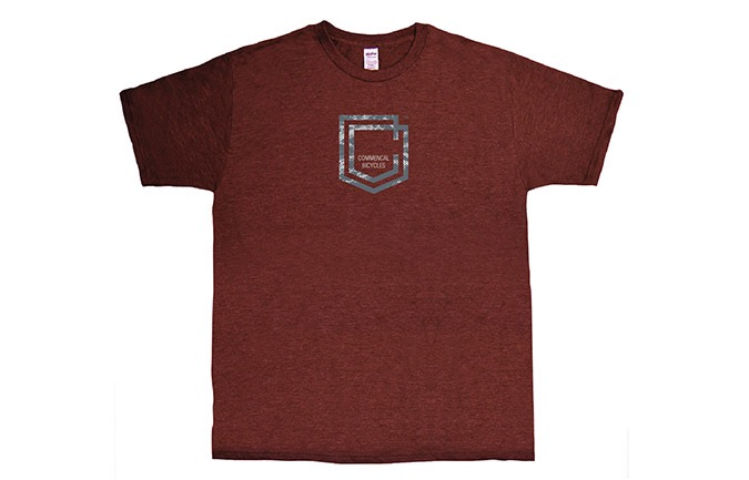 T-SHIRT COMMENCAL SHIELD BURGUNDY 2019