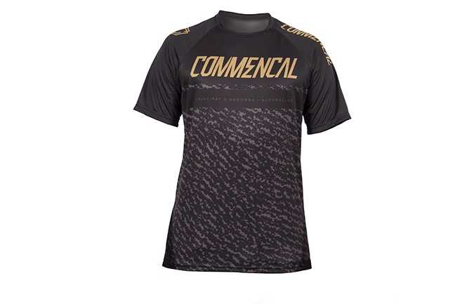 MAILLOT MANCHES COURTES COMMENCAL BLACK/GOLD 2019
