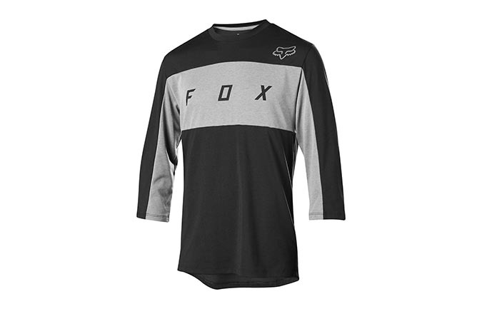 MAILLOT MANCHES 3/4 FOX DRI-RELEASE BLACK 2019