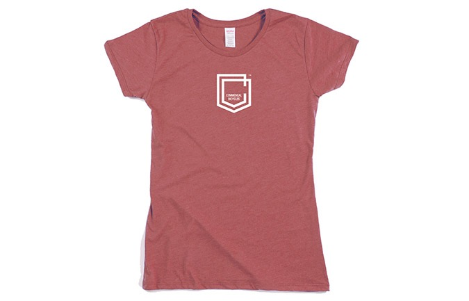 T-SHIRT COMMENCAL GIRL SHIELD BURGUNDY 2019