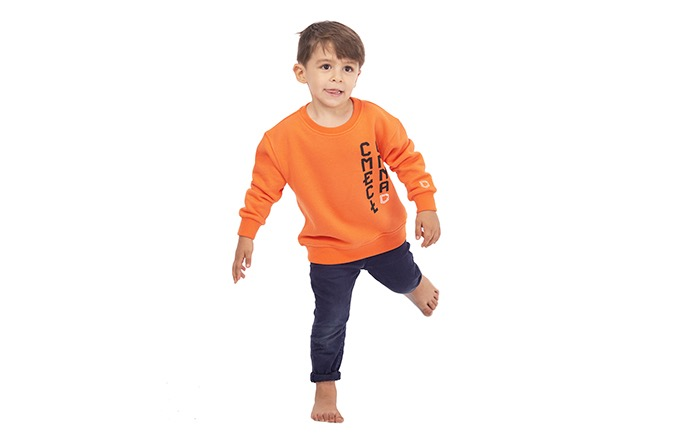 CREWNECK COMMENCAL KID ORANGE