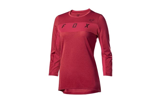 MAILLOT MANCHES 3/4 FOX WOMAN DRI-RELEASE DARK RED 2019