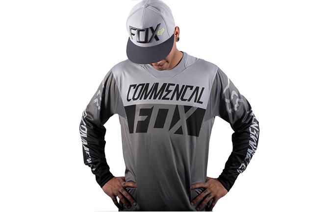 MAILLOT COMMENCAL PAR FOX HEAD GRIS