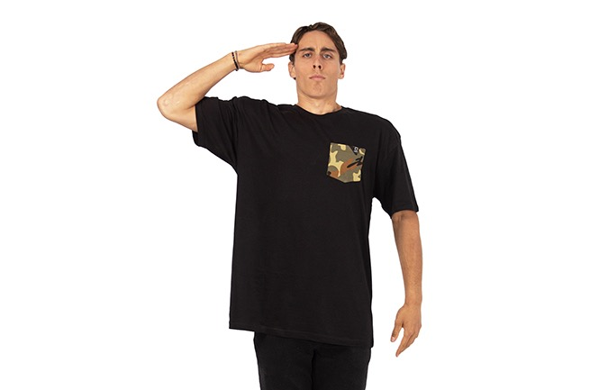 TEE-SHIRT BASIC BLACK / CAMO