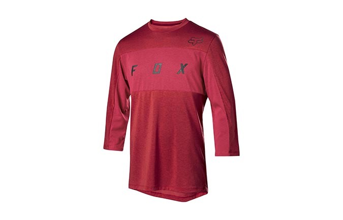 MAILLOT MANCHES 3/4 FOX DRI-RELEASE DARK RED 2019