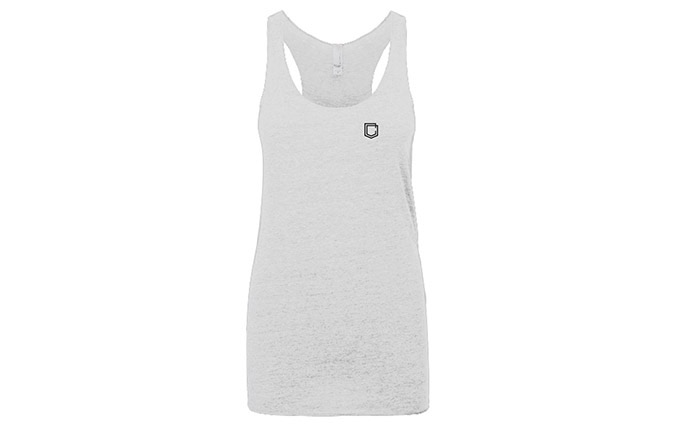TANK TOP COMMENCAL GIRL SHIELD HEATHER WHITE 2019
