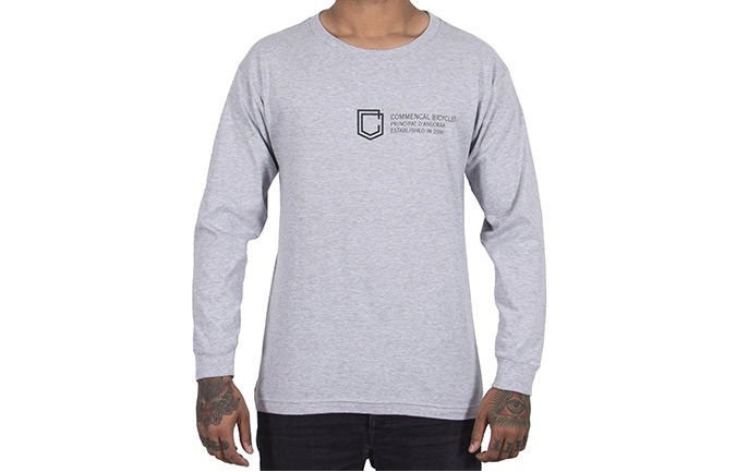 T-SHIRT LONG SLEEVE COMMENCAL SHIELD HEATHER GREY 2019