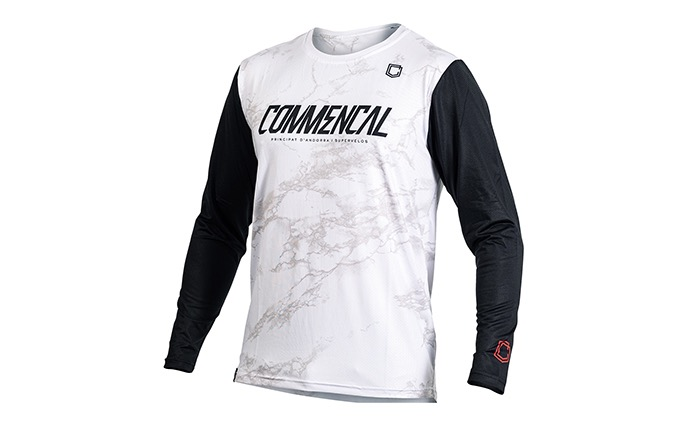 MAILLOT MANCHES LONGUES COMMENCAL WHITE
