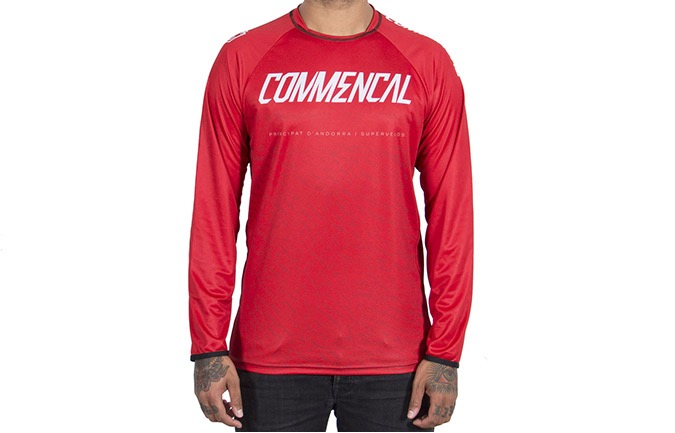MAILLOT MANCHES LONGUES COMMENCAL RED 2019