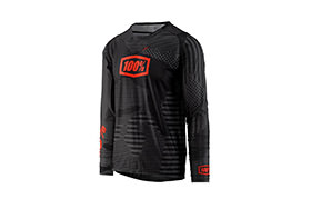 MAILLOT MANCHES LONGUES 100% R-CORE-X DH BLACK CAMO 2018