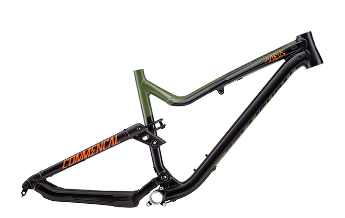 CADRE META AM V4.2 BRITISH COLUMBIA 650B  GREEN/ORANGE/BLACK 2018