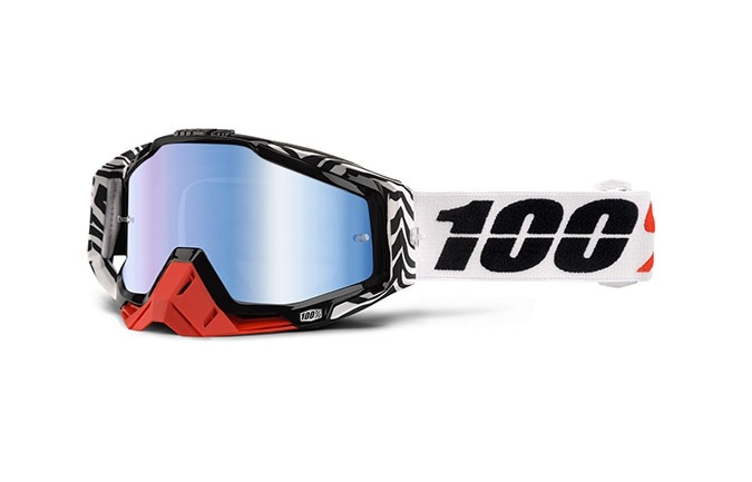 100% GOGGLE RACECRAFT ZOOLANDER MIRROR BLUE LENS