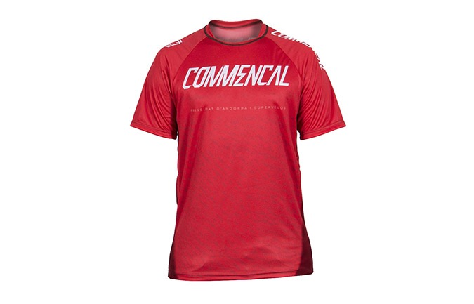 MAILLOT MANCHES COURTES COMMENCAL RED 2019