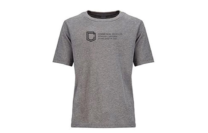 T-SHIRT COMMENCAL KID SHIELD HEATHER GREY 2019