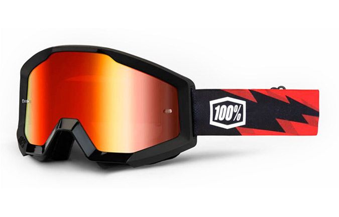 MASQUE 100% STRATA GOGGLE SLASH - MIRROR RED LENS