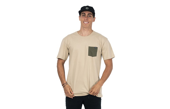TEE-SHIRT BASIC SAND / GREEN