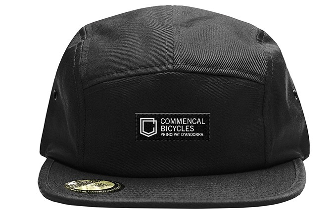 CASQUETTE COMMENCAL FIVE PANEL SHIELD BLACK  2019